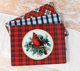 Set of 3 Holiday Glass Cutting Boards by Valerie -