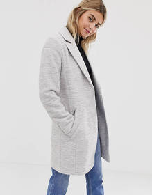 ASOS DESIGN textured slim coat