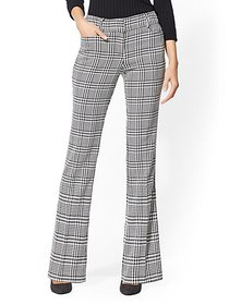 Mid Rise - Bootcut Pant - Plaid - 7th Avenue - New