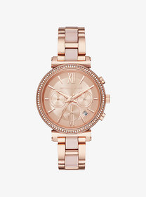 Michael Kors Sofie Pavé Rose Gold-Tone and Acetate