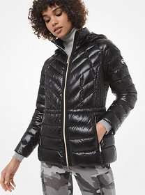 Michael Kors Quilted Nylon Packable Down Jacket