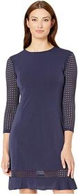 MICHAEL Michael Kors High Neck Mesh Combo Dress