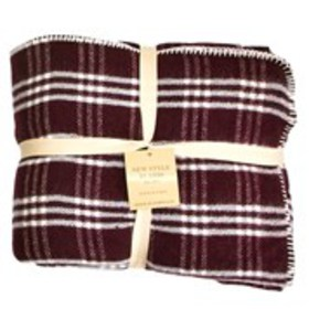 NEW PLAIDS Plaid Wool Queen Throw Blanket