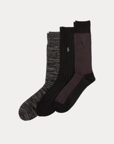 Ralph Lauren Birdseye Trouser Sock 3-Pack