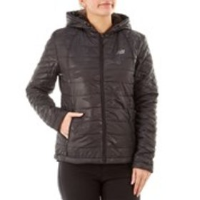 NEW BALANCE Puffer Quilted Hooded Jacket with Sher