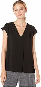 Vince Camuto Extend Shoulder V-Neck Knit Back Blou