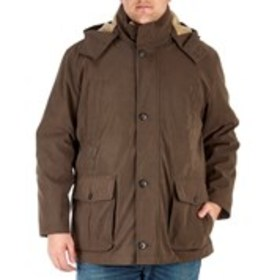 LONDON FOG Big & Tall Hooded Parka With Removable