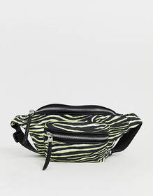 Pull&Bear fanny pack in neon animal print