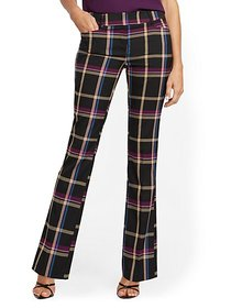 Bootcut Pant - Modern Fit - Plaid - 7th Avenue - N