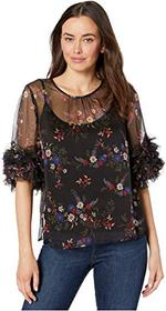 Vince Camuto Ruffle Sleeve Country Bouquet Blouse