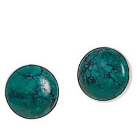 Jay King New Red Skin Turquoise Round Stud Earring