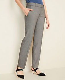 The Straight Pant in Birdseye - Curvy Fit