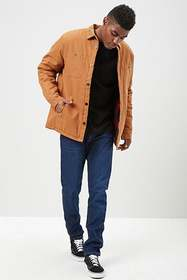 Forever21 Padded Canvas Button Jacket