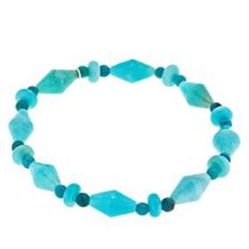 Jay King Amazonite and Turquoise Beaded Stretch Br