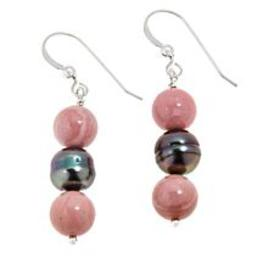 Jay King Pink Opal and Black South Sea Cultured Pe