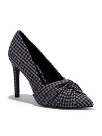 Houndstooth-Print Pleated Pump - New York & Compan