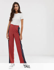 Brave Soul Tall wide leg pants in mix print
