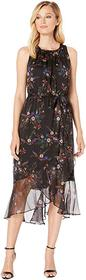 Vince Camuto Sleeveless Ruffled Hem Belted Country