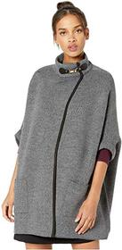 Steve Madden Solid Riding Cape with Welt Pocket