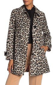 kate spade new york Leopard Print Trench Coat