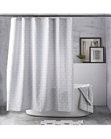 DKNY - Subway Tile Shower Curtain