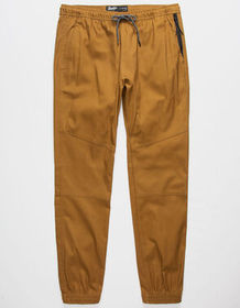 BROOKLYN CLOTH Twill Zip Side Pockets Tobacco Mens