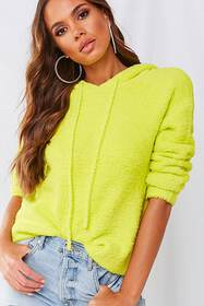Forever21 Faux Fur Hooded Pullover