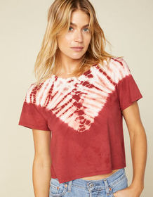 WEST OF MELROSE Tie Dye For Womens Boxy Tee_