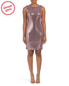 NIGHTWAY Metallic V-back Mini Dress