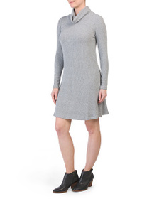 PHILOSOPHY Cowl Neck Ribbed Dress