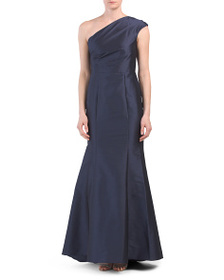 ADRIANNA PAPELL Long One-shoulder Gown