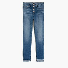"J. Crew Factory 10"" highest-rise jean with button"