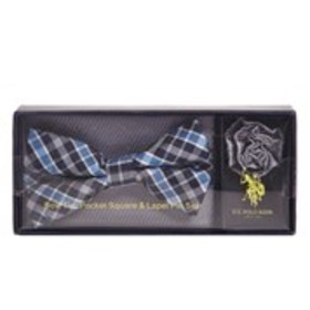 Mens Plaid Bow Tie, Pocket Square And Lapel Pin Se