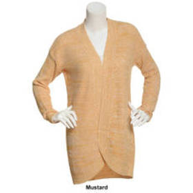 Juniors No Comment Marled Shaker Cocoon Cardigan w