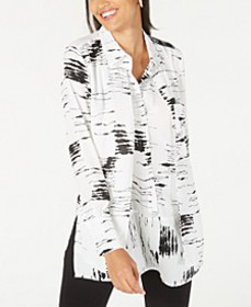 Printed Popover Tunic Top, Created for Macy's