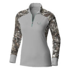 Black Antler Women's Skipped Quarter-Zip Pullover