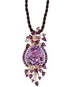 Crazy Collection® Multi-Stone Cord Pendant Necklac