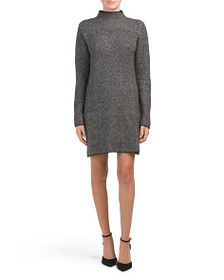 MAX STUDIO Houndstooth Knit Sweater Dress