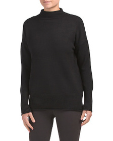 MAX STUDIO Funnel Neck With Ribbed Cuff Sweater