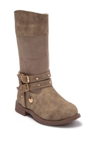 Nicole Miller Distressed Studded Strap Boot (Toddl