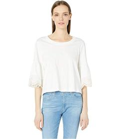 See by Chloe Elbow Sleeve Cotton Jersey Top
