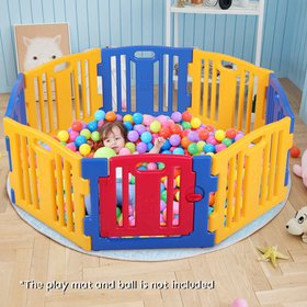 Jaxpety Baby Playpen 8 Panel Kids Safety Play Cent