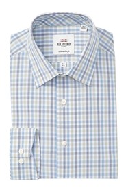 Ben Sherman Checkered Tailored Slim Fit Dress Shir