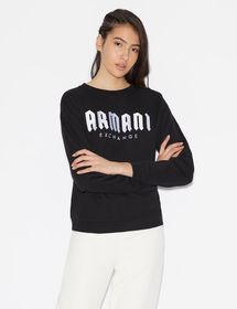 Armani SWEATSHIRT WITH CONTRASTING LETTERING