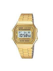 Casio Men's 'Vintage' Digital Illuminator Gold-Ton