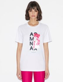 Armani BOYFRIEND-FIT TEE WITH GRAPHIC PRINT
