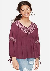 Justice Embroidered Peasant Top