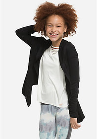 Justice Ribbed Side Hooded Cardigan
