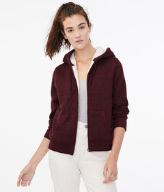 Aeropostale Seriously Soft Fleece-Lined Full-Zip H
