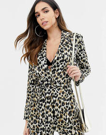 ASOS DESIGN relaxed blazer in animal print